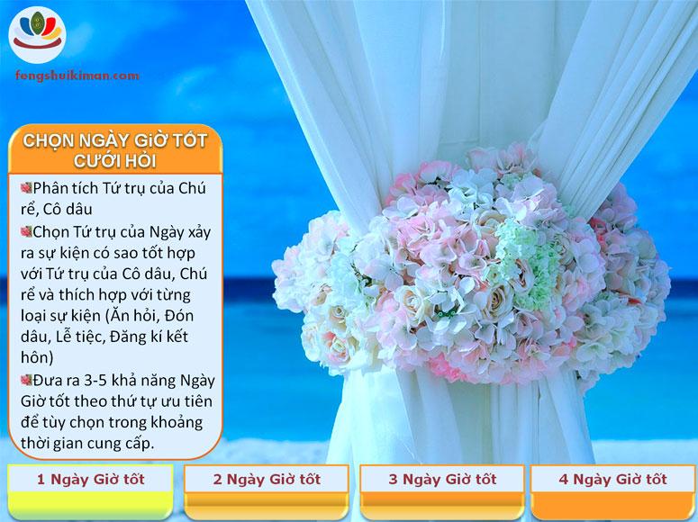 Chọn ngày giờ tốt cưới hỏi, đăng kí kết hôn