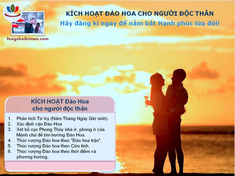 Kích hoạt Đào Hoa cho người độc thân