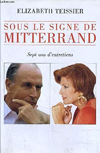 """Bìa sách """"Bảy năm đối thoại dưới Cung hoàng đạo của Mitterand"""" của bà chiêm tinh học Elizabeth Teissier"""