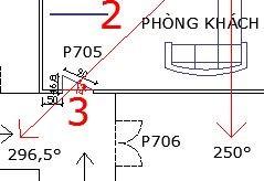 Hình 2: Căn hộ sửa cửa chính 296,5° thoát khỏi tuyến Đại Không Vong